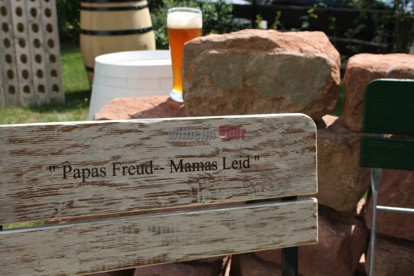 Beer garden chairs – built with barrel staves