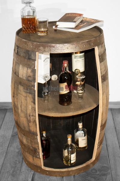 Shelf barrel made of a bourbon barrel 190 l nature