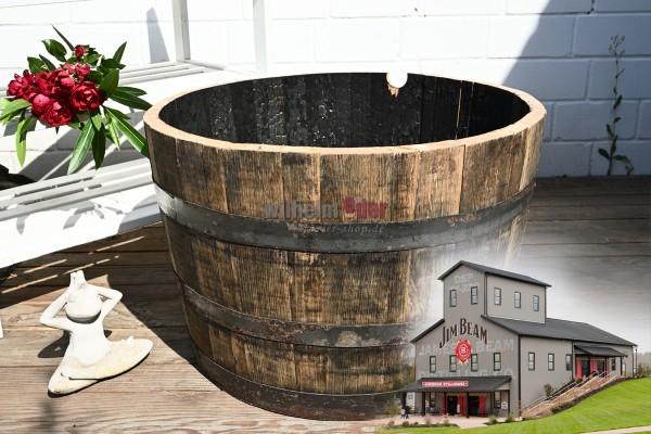 Flower Pot - 1/2 Bourbon barrel - Jim Beam