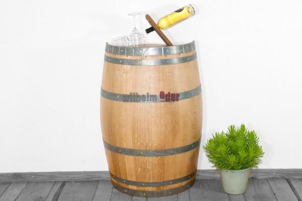 Decorative barrel 225 l - divided lengthwise - varnished