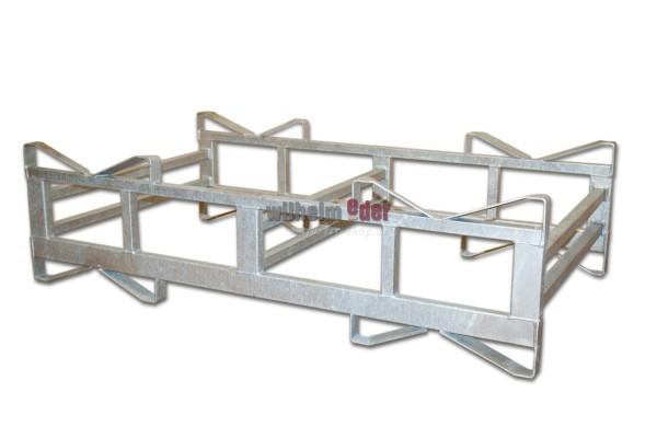 Rack – galvanized – combination for 2 barrels 500 l