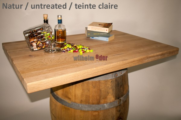 Table tops made of oak – square