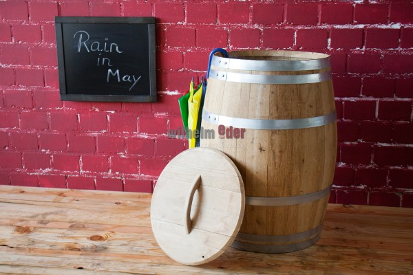 Rain barrel made from chestnut wood 225 l