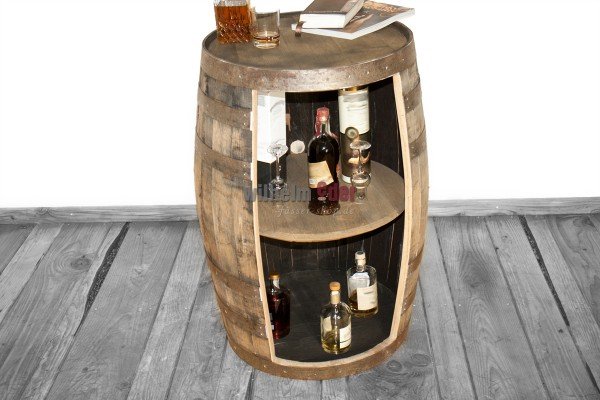 Shelf barrel made of a bourbon barrel 190 l nature