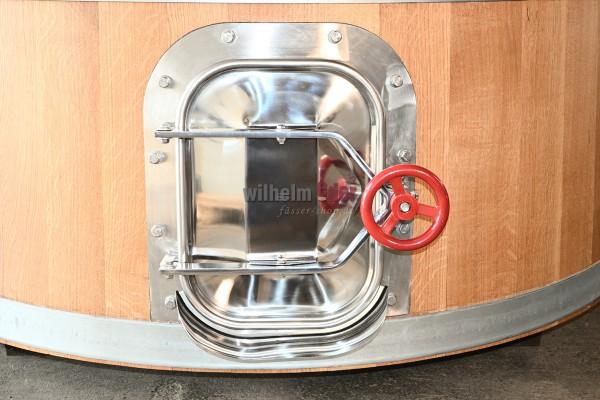 Stainless steel door for installation in fermentation vats