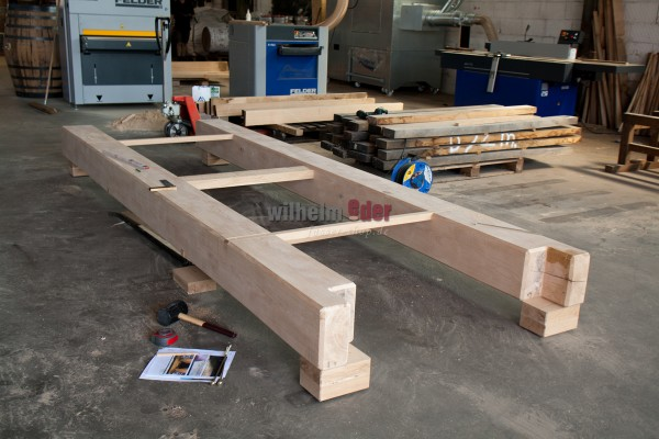 Oak framework rack