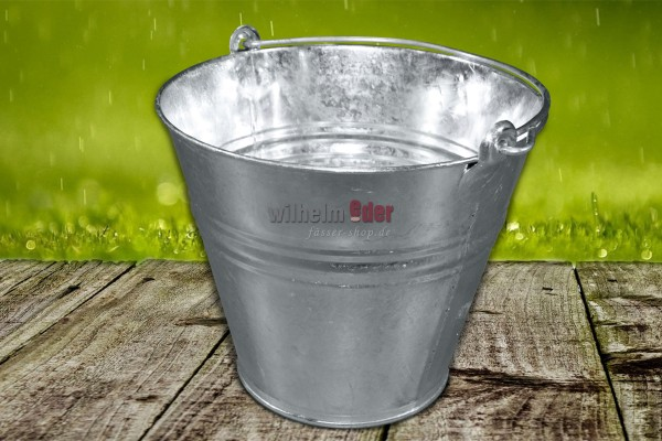 Bucket 10 l - galvanized