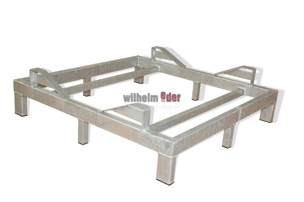 Rack – galvanized – bottom for 1 barrel 600 l