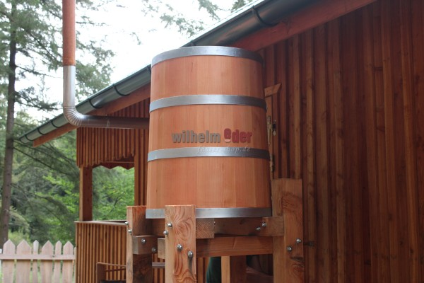Rain collector - Douglas fir - conical ca. 250 l