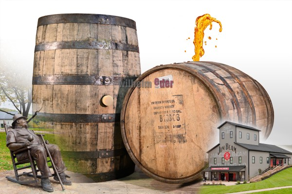 Decoration barrel 190 l - Bourbon Jim Beam