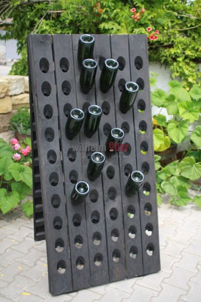Champagne Rack - 120 bottles - black