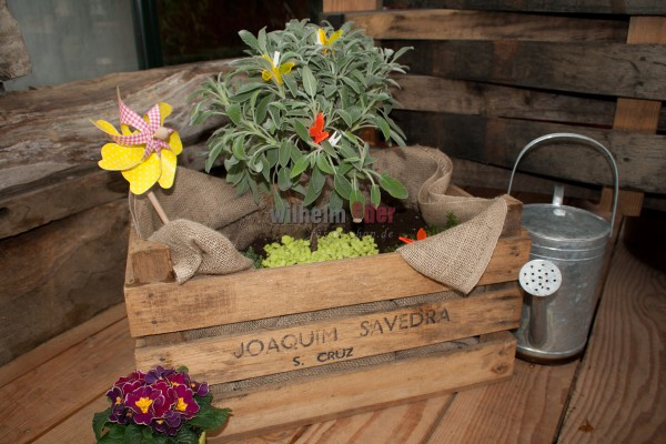 Flower box with jute