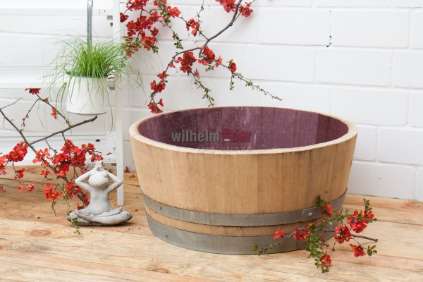 Flower pot - 1/4 barrel