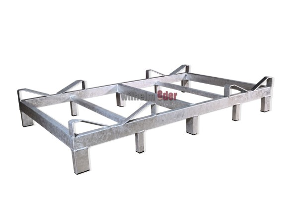 Rack – galvanized – bottom for 2 barrels 500 l
