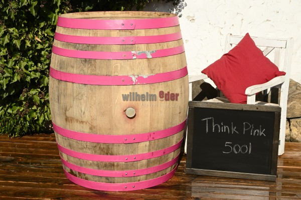 Ornamental barrel ca. 500 l - Think Pink
