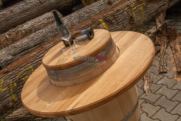 Oak wood panel recessed - outer barrel frame