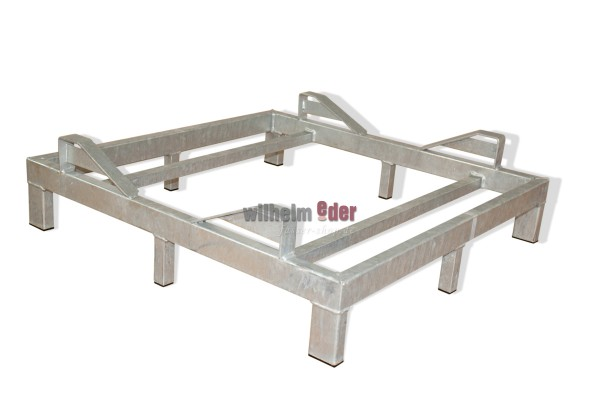 Rack – galvanized – bottom for 1 barrel 500 l