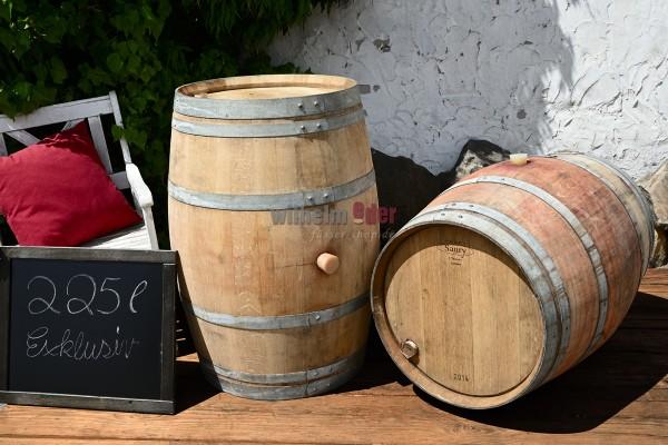Ornamental barrel 225 l - exclusiv, hoops galvanized