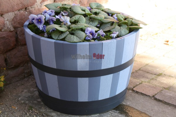 Flower pot – Blue Stripes