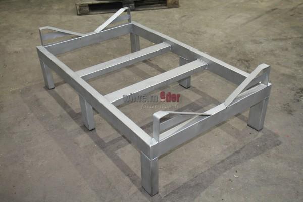 Stainless steel rack for one 1000 l Mosel fouder - bottom