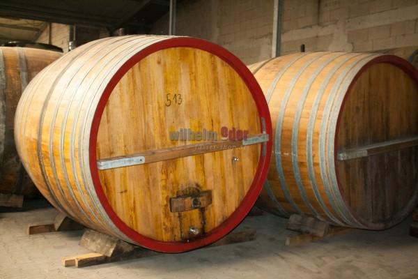 Oak barrel 6000 l round used - reworked