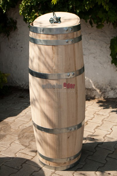 Rain barrel cigar shape 100 l chestnut