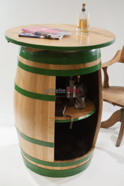 Shelf barrel with desk top