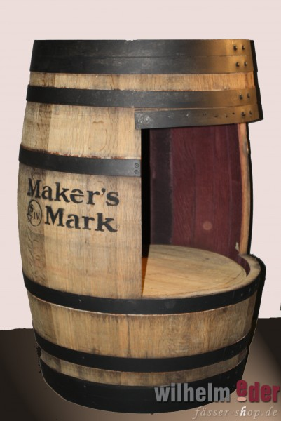 High Table combined with a shelf barrel formerly used in whisky production