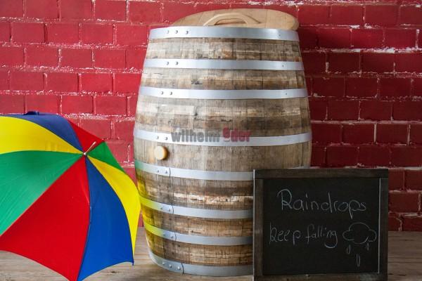 Rain barrel 450 l - silver hoops