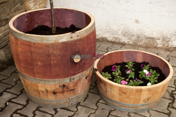 Flower pot set - 1/4 and 3/4 225 l barrel