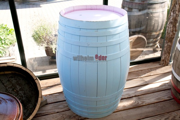 Decoration barrels 225 l in pastal colour - sale