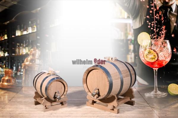 Ornamental barrel with stainless steel tank 2 l - 5 l