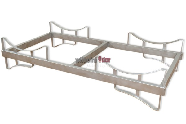 """Stainless Steel Rack for two 500l barrels """"curved"""""""
