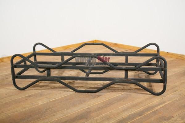 Black steel racks used , for 225 l barrels