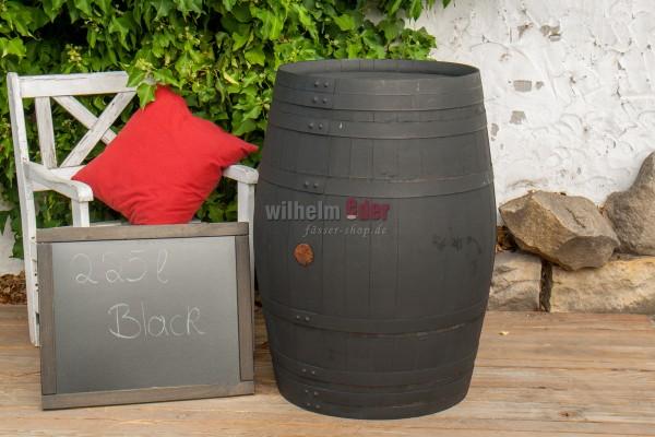 Decoration barrel 225 l - Black
