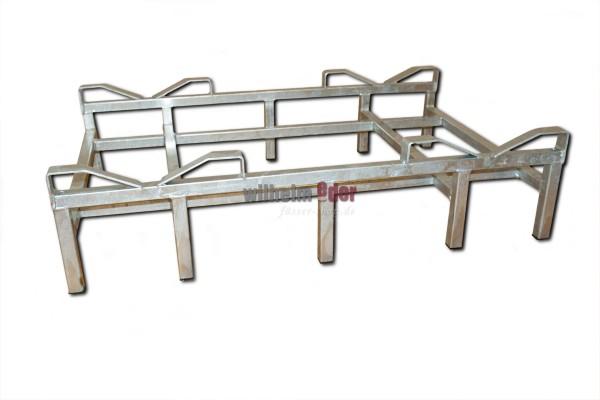 Rack – galvanized – bottom for 2 barrels 225/228 l