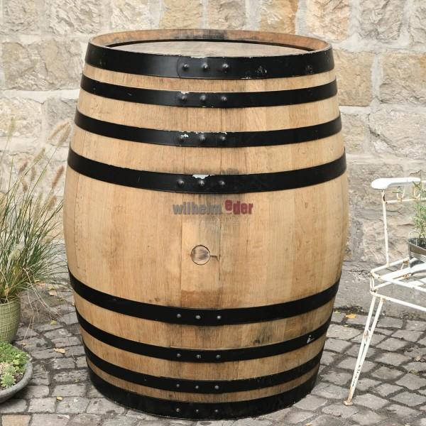 Ornamental barrel 400 l - black hoops