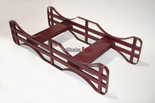 Red steel racks for 225 l barrels - reinforced and used