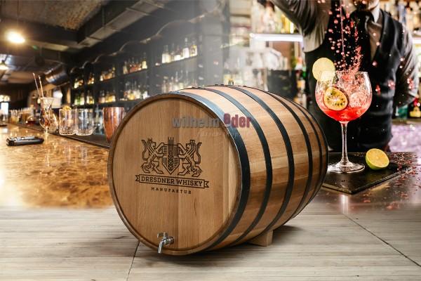 Oak barrel with inner stainless steel tank 100 l