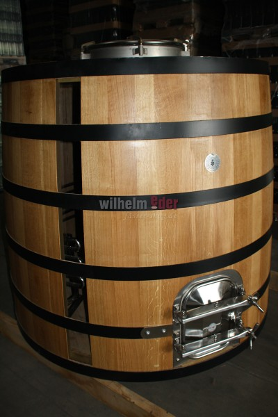 Seguin Moreau Fermentation Vat from Haute Futaie – French high trunk Oak 3000 l - Stave out of acrylic glass