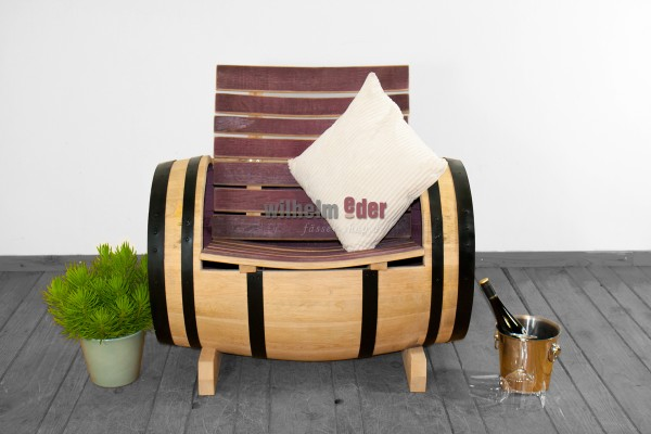 Barrel armchair