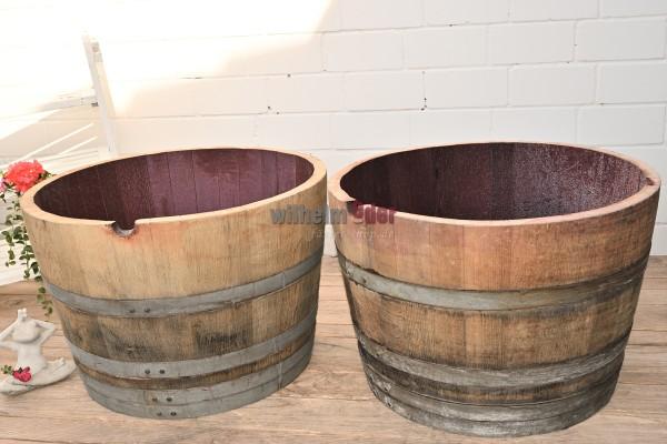 Flower pot - 1/2 225 l barrel - 2 pieces in set