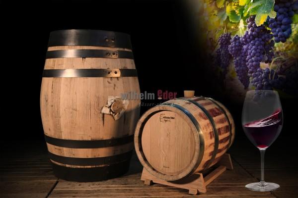 Red wine barrel 20 l - 100 l - rebuilt