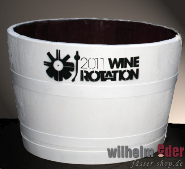 Cooling Device for Wine or Champagne out of halved barrel