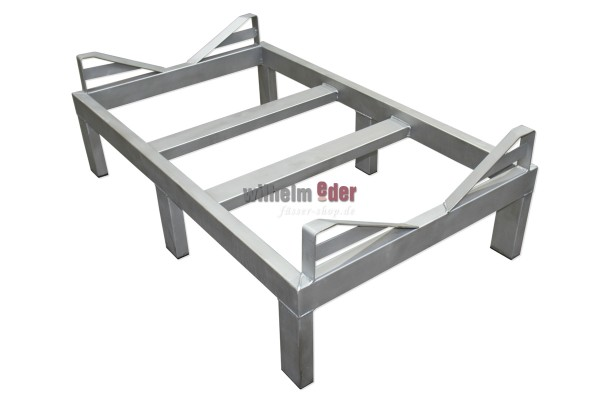 Stainless steel rack for one 1000 l Mosel fouder - bottom