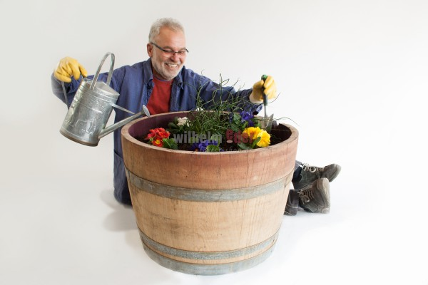 Flower pot - half 225 l barrel - special offer